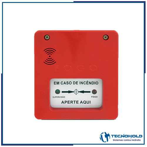 Acionador manual de alarme convencional